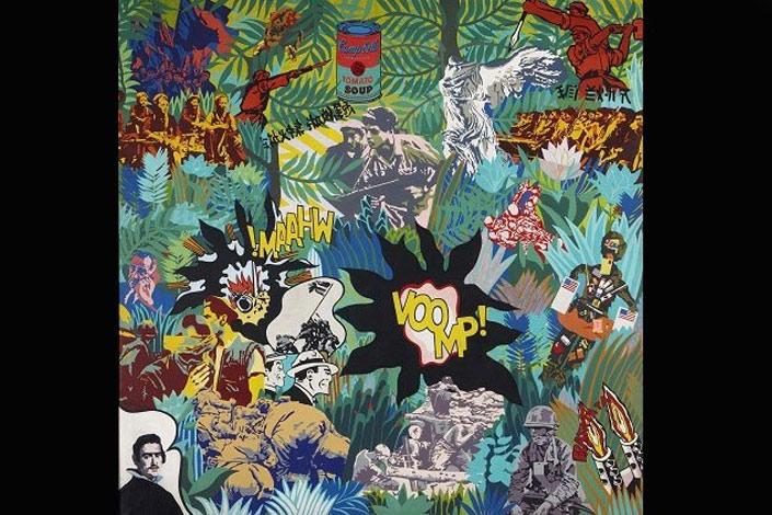 Equipo Crónica. El realismo socialista y el Pop Art en el campo de batalla, 1969. Pintura, Colección Museo Nacional Centro de Arte Reina Sofía. Depósito temporal de Manuel Valdés, 2010